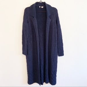 Anthropologie Moth Embroidered Duster Cardigan